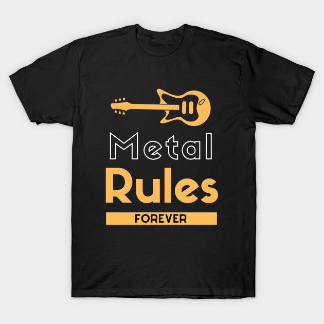 Heavy Metal Music Rules Forever Creative Guitar Clipart 2020 2
