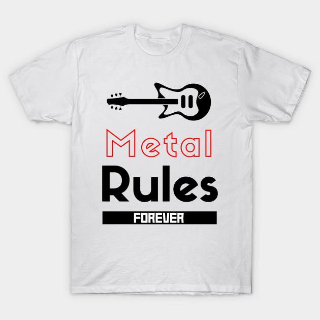 Heavy Metal Music Rules Forever Creative Guitar Clipart 2020 3