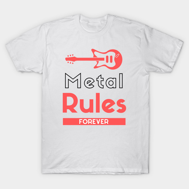 Heavy Metal Music Rules Forever Creative Guitar Clipart 2020 4