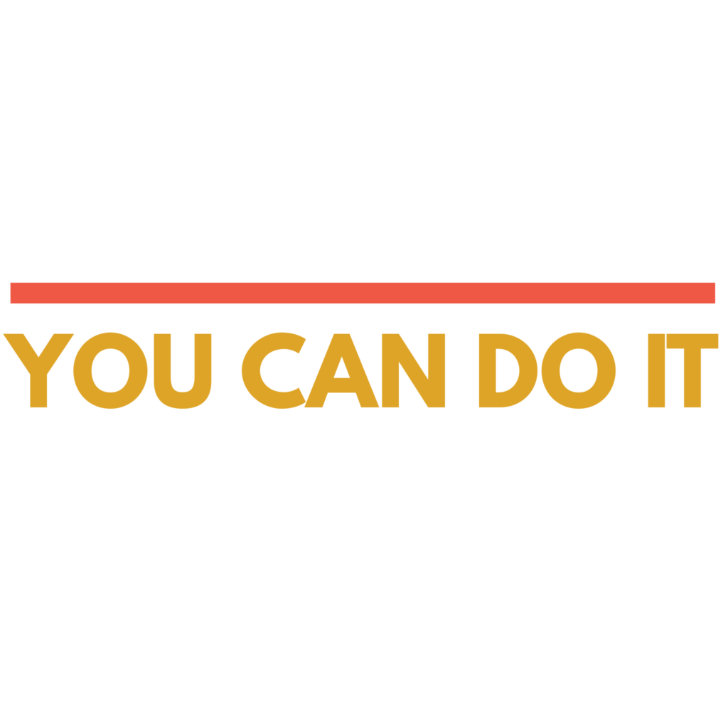 You Can Do It - Transparent Clipart Typography Free Download 3