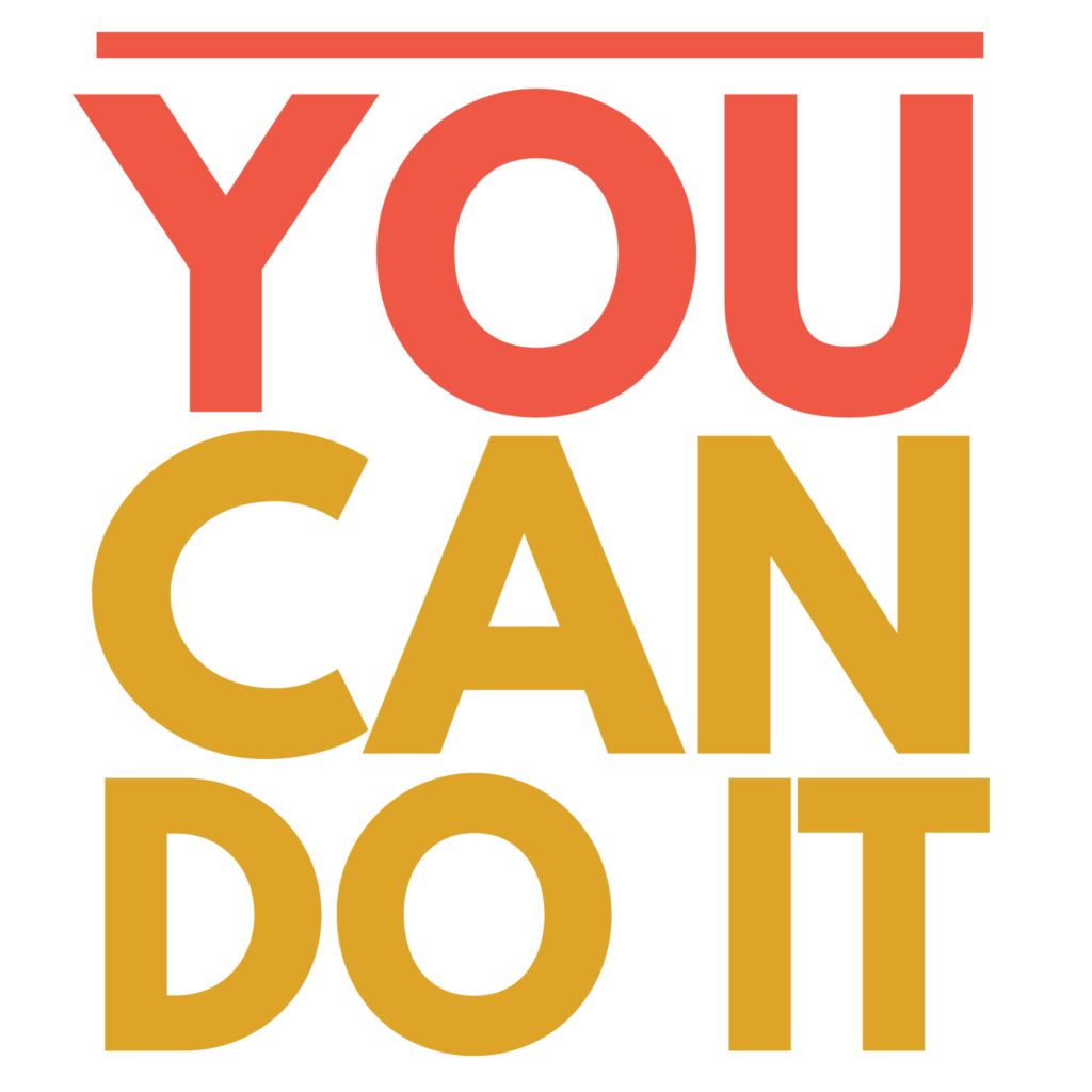 You Can Do It - Transparent Clipart Typography Free Download 2