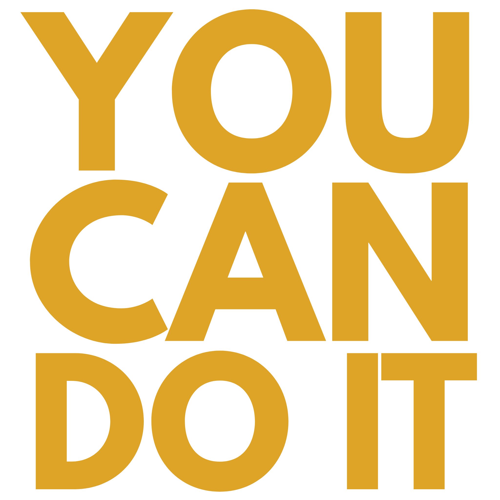 You Can Do It – Transparent Clipart Typography Free Download