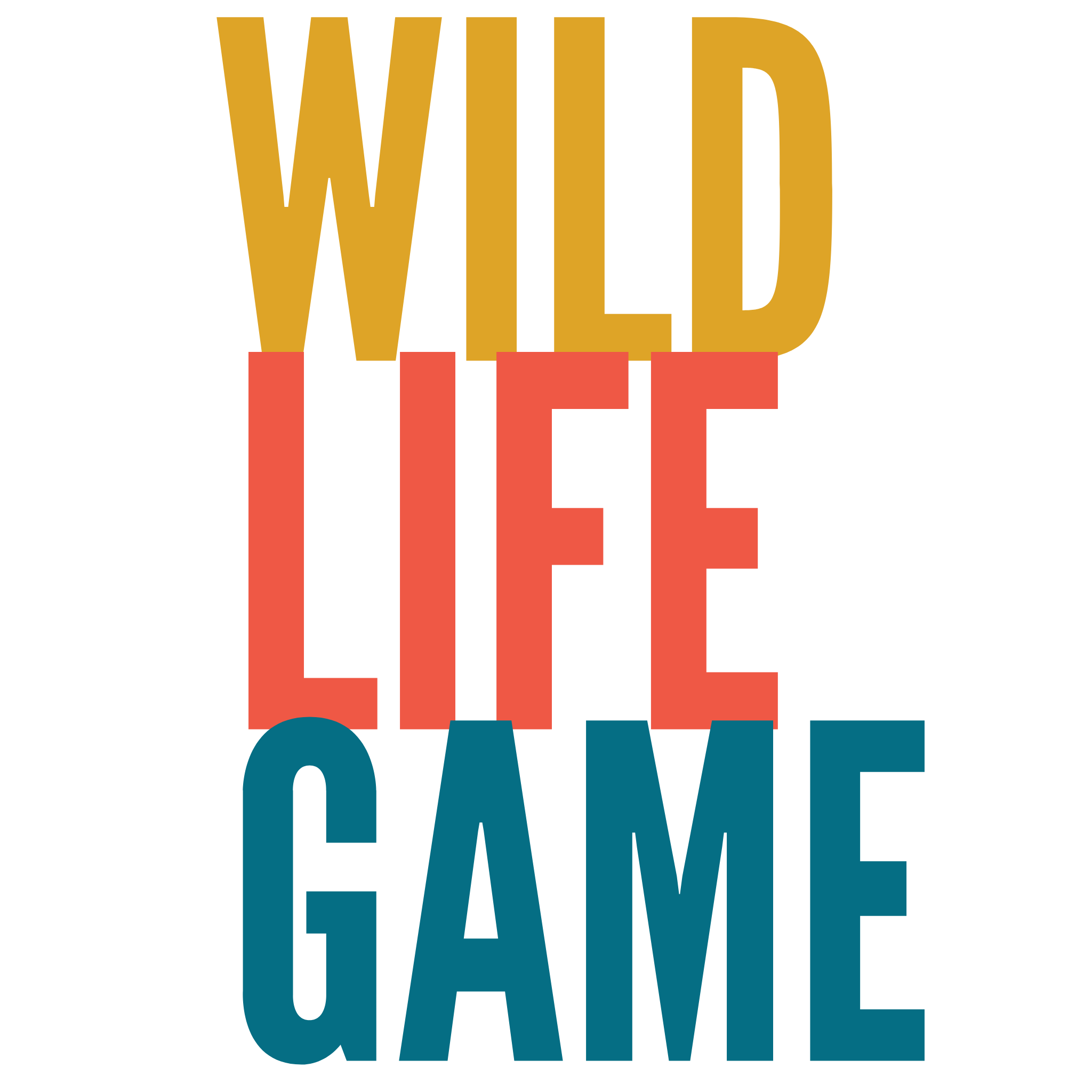 Wild Life Game Typography Design Free Download