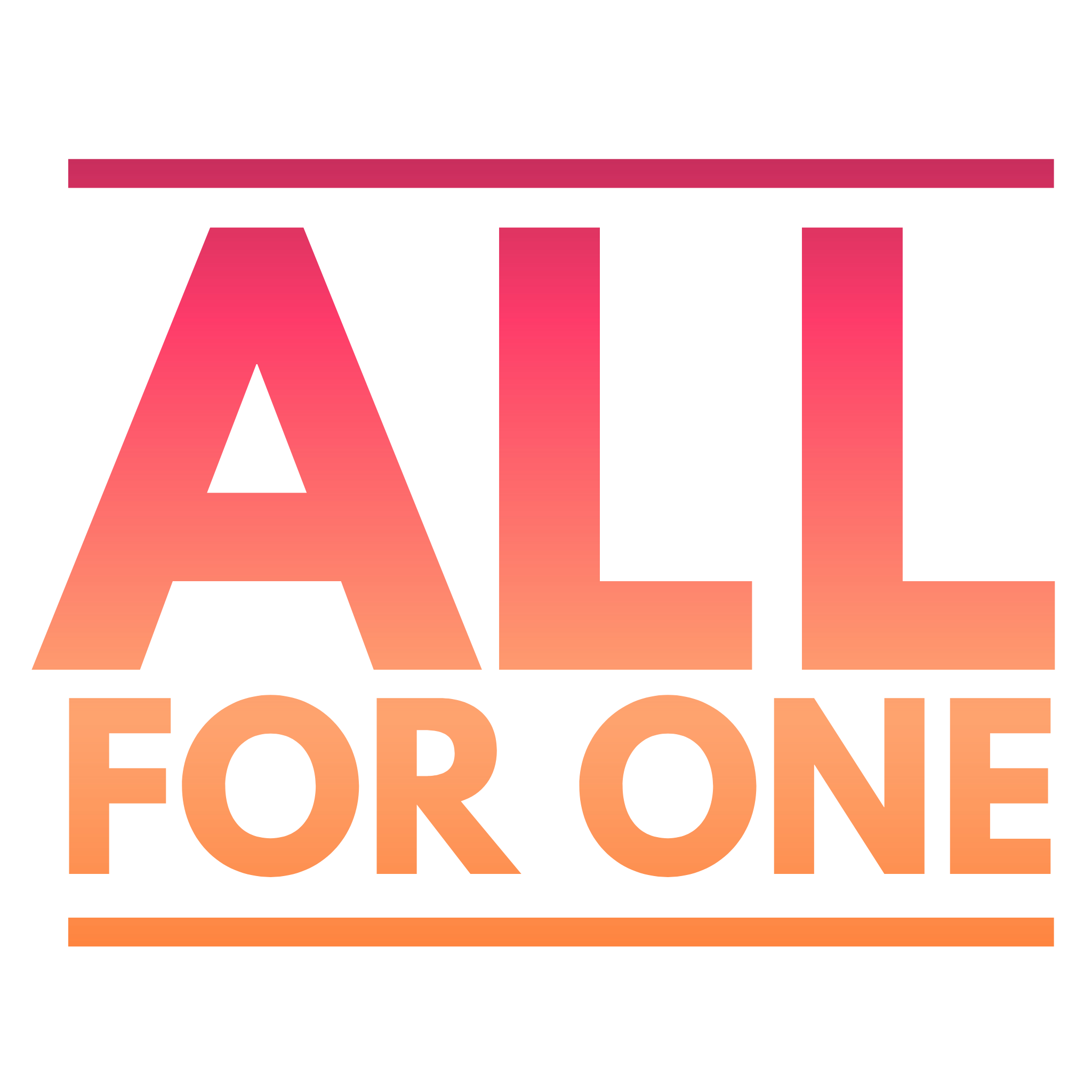 All For One – Transparent Typography Design Download